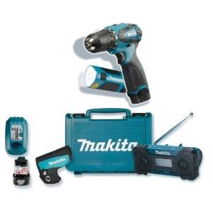 Makita DK1488 Akku-Bohrschrauber Set mit Radio