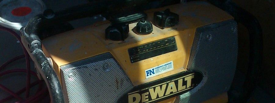 Baustellenradios für gute Mukke auf dem Bau